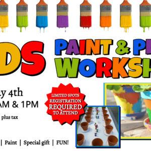 Kids Paint & Plant